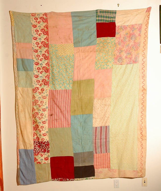 Gees Bend African American Concentric Squares Quilt For Sale 1