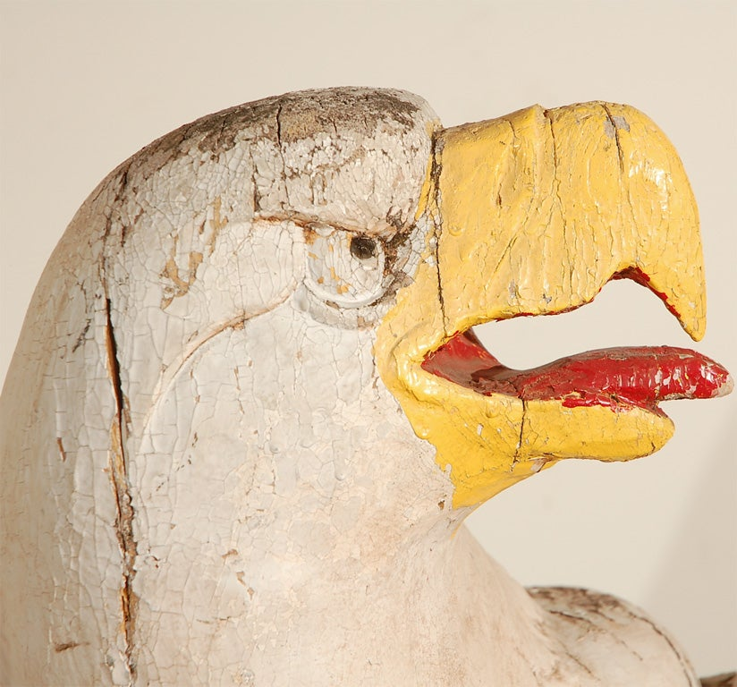 American Architectural Wood Carved Eagles In Good Condition For Sale In Santa Monica, CA
