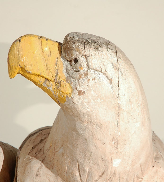 19th Century American Architectural Wood Carved Eagles For Sale