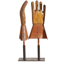 Industrial Rubber Glove Factory Vintage Copper Molds