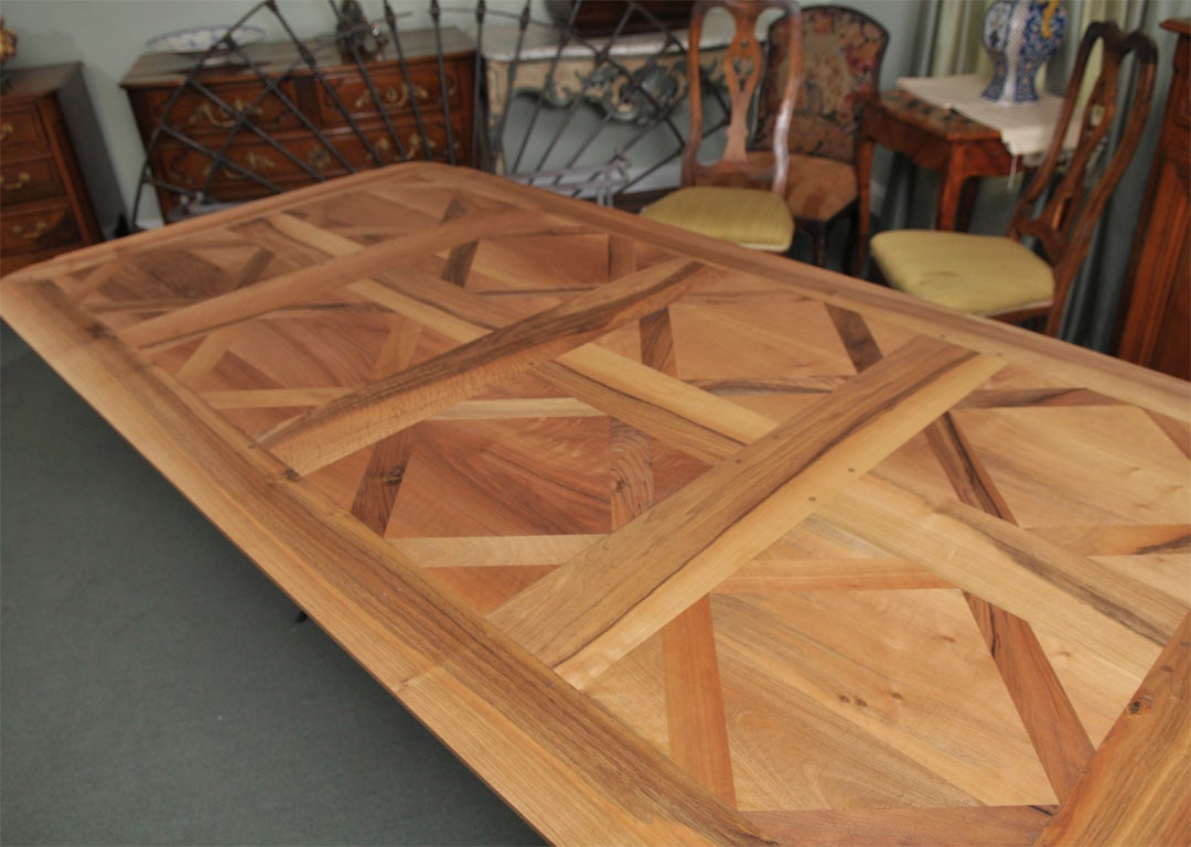 Parquet Dining Room Table