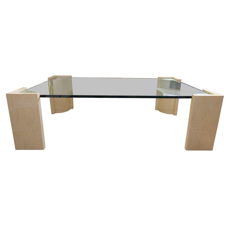 Bone And Glass Coffee Table At 1stdibs