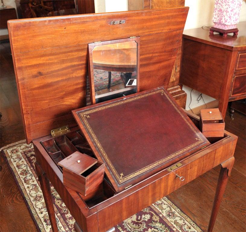 English Mahogany Dressing Table For Sale 2