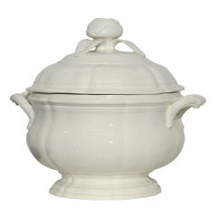 An 18th Century  Creamware Soup Tureen