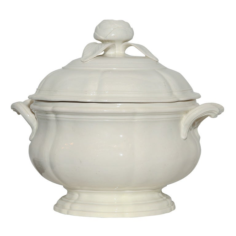 An 18th Century  Creamware Soup Tureen For Sale