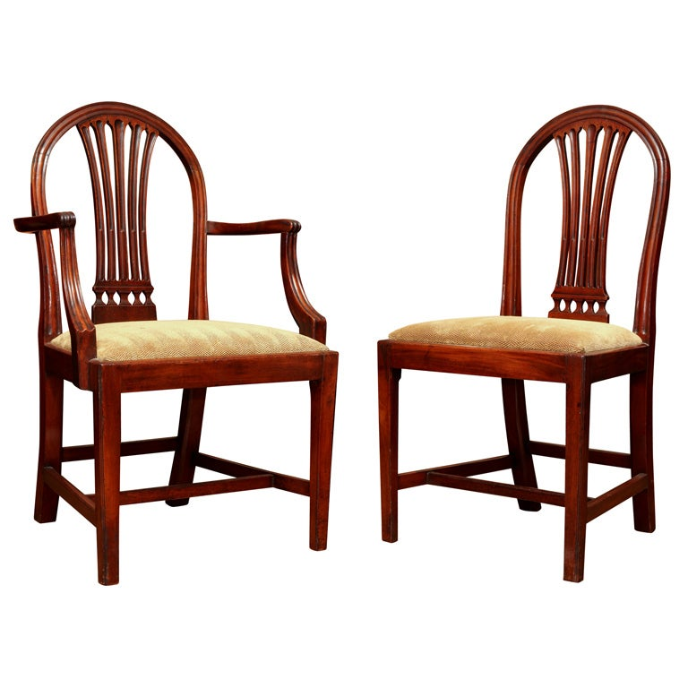 set of four english georgian dining room chairs at 1stdibs