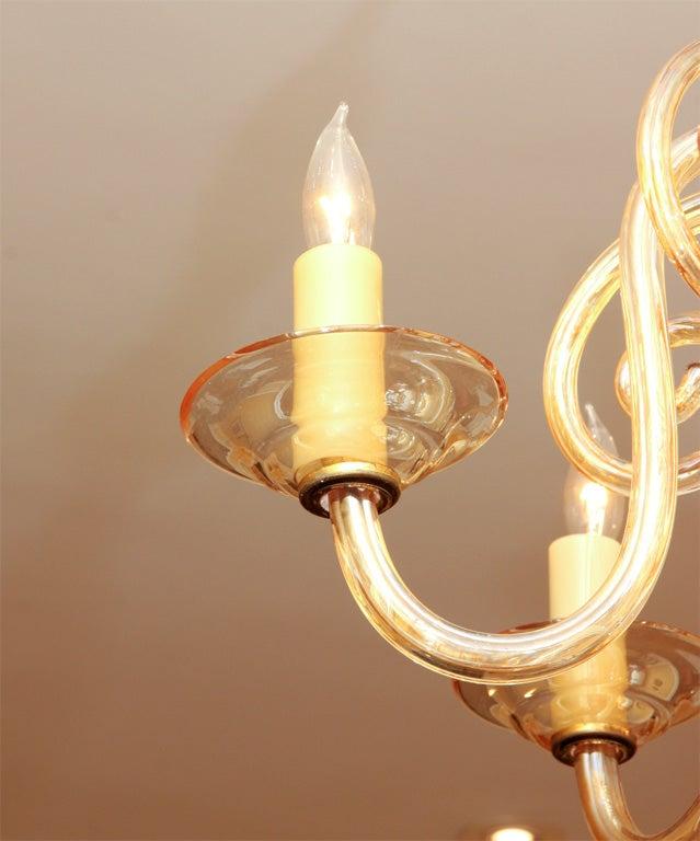 Czechoslovakian Glass Chandelier For Sale At 1stdibs