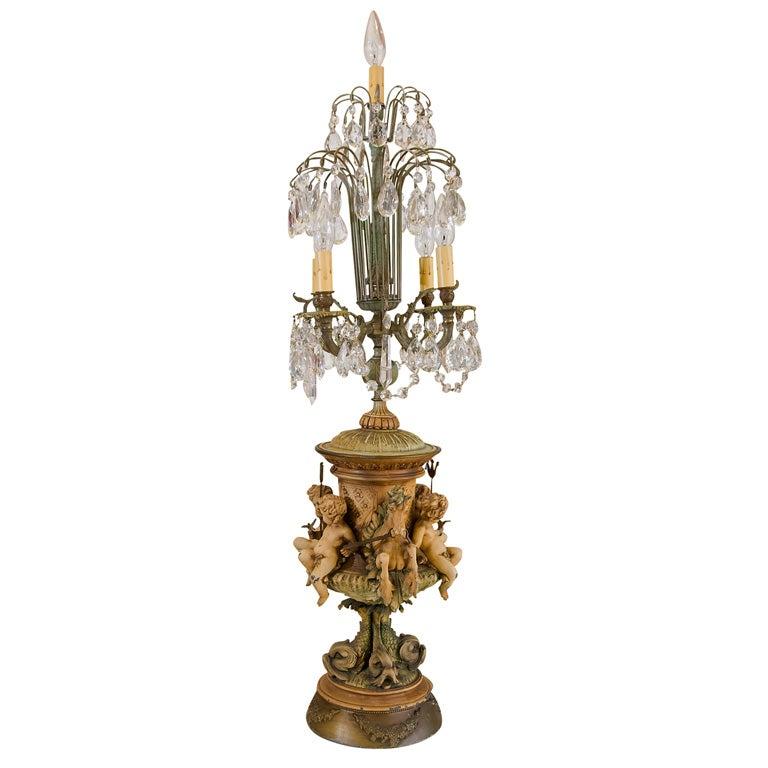 Vintage Seahorse Cherub Lamp At 1stdibs