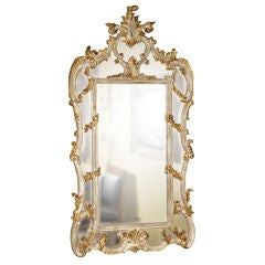 Beautiful Parcel and Gilt Over the Mantle Mirror