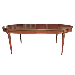 Stamped Jansen Mahognay Dining Table