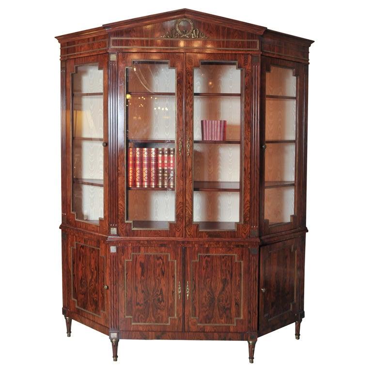 Custom-Made Maison Jansen Rosewood Breakfront Bookcase