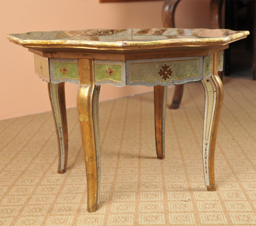 Venetian Glass Coffee Table By Jansen At 1stdibs