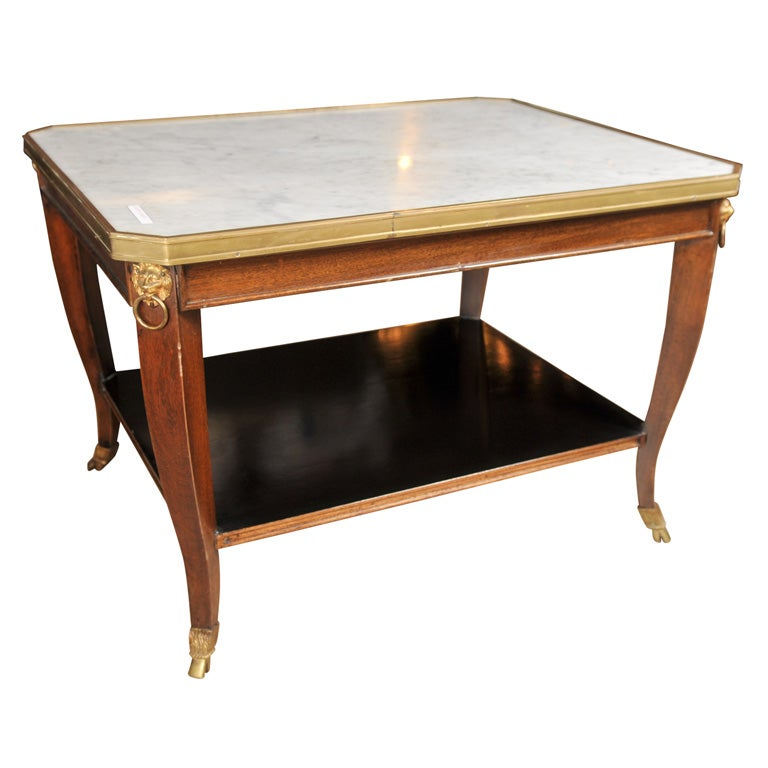 Jansen Marble Top Cocktail Table At 1stdibs