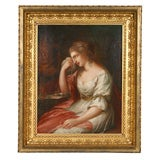 18th Century Painting of Young Woman