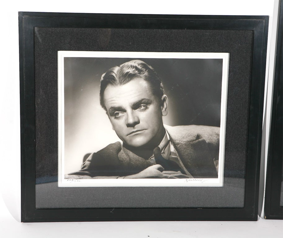 George Hurrell Photographs of James Cagney and John Barrymore In Excellent Condition For Sale In Los Angeles, CA