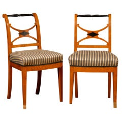 Set of Four 19th Century Karl Johan Swedish Chairs