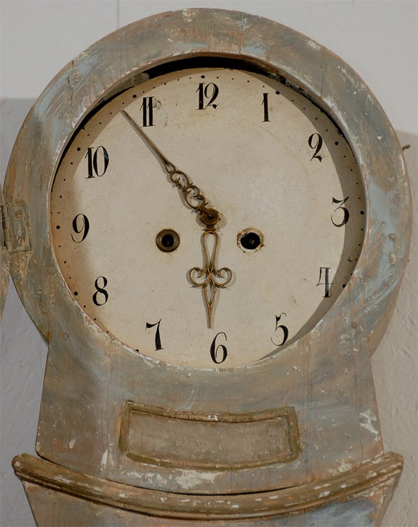 Swedish tall floor painted wood clock circa at stdibs