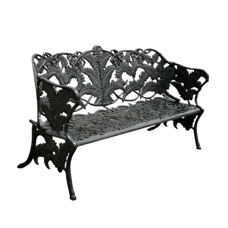 Cast Iron Park Bench At 1stdibs
