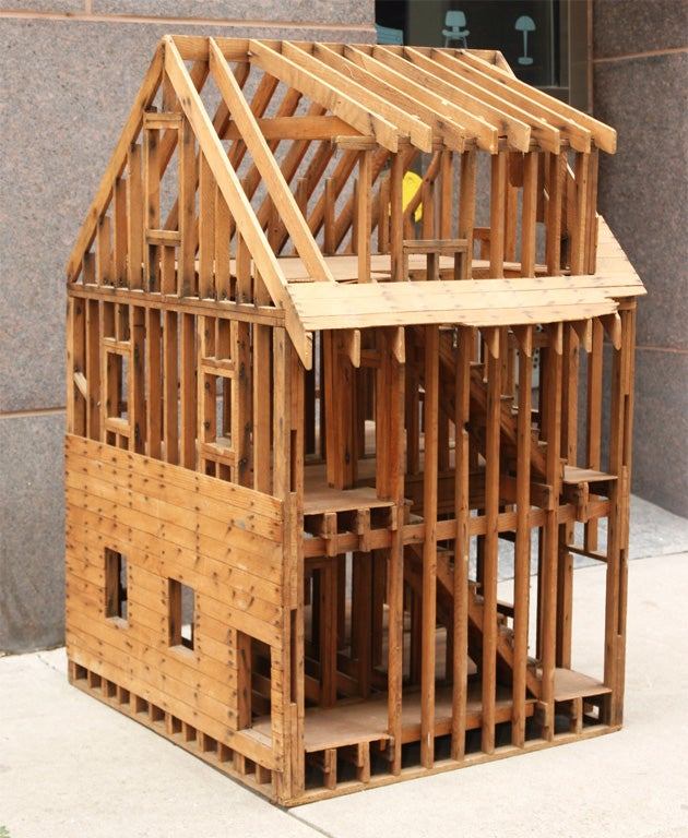 Great balloon framing scale model of a home at 1stdibs for House models for construction
