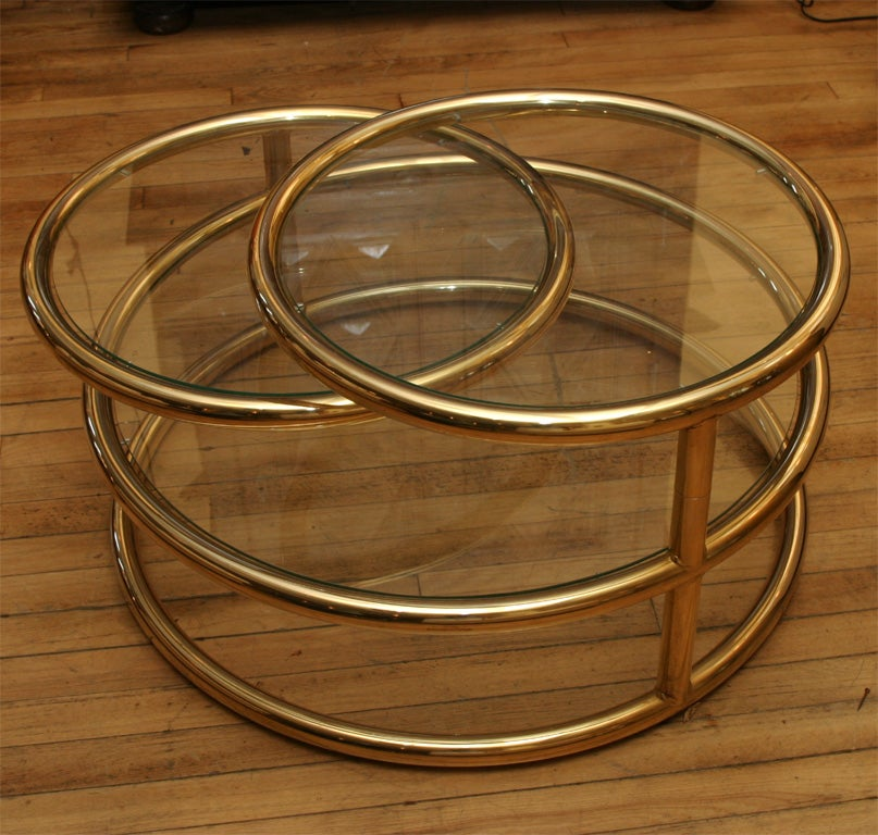 Rotating Circles Coffee Table At 1stdibs
