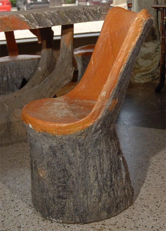 Faux Bois Table Set 1
