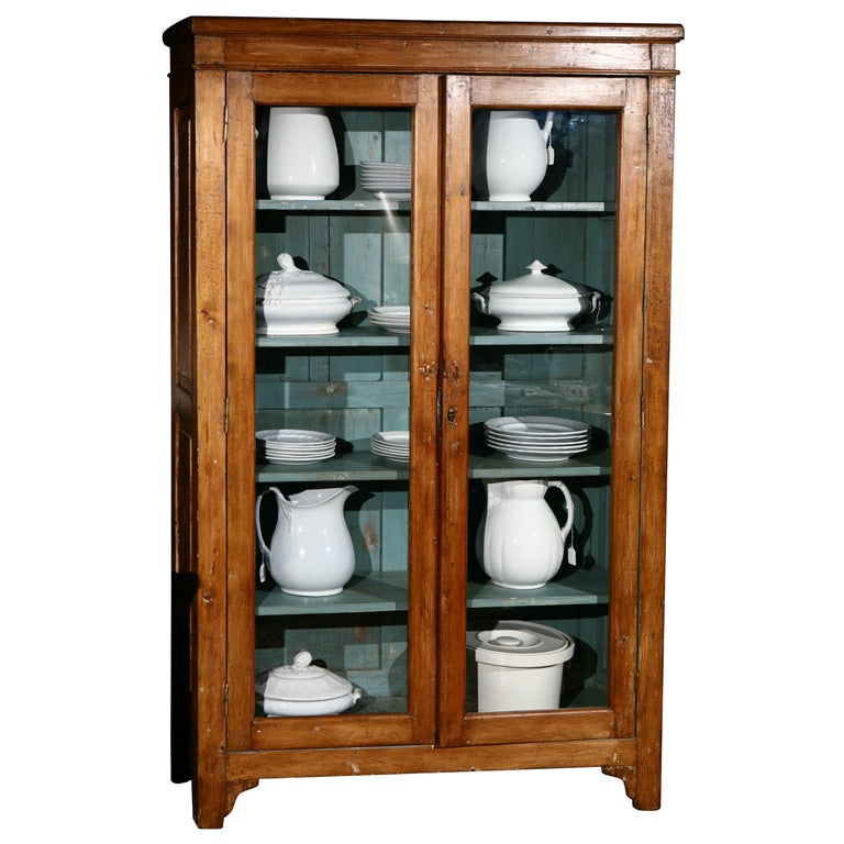 Tall Cabinet with Glass Doors at 1stdibs