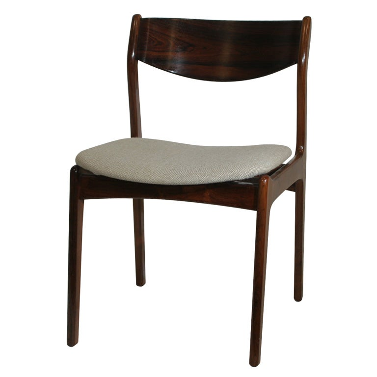 Curved Back Dining Room Bench: Set Of 4 Curved Back Rosewood Dining Chair At 1stdibs