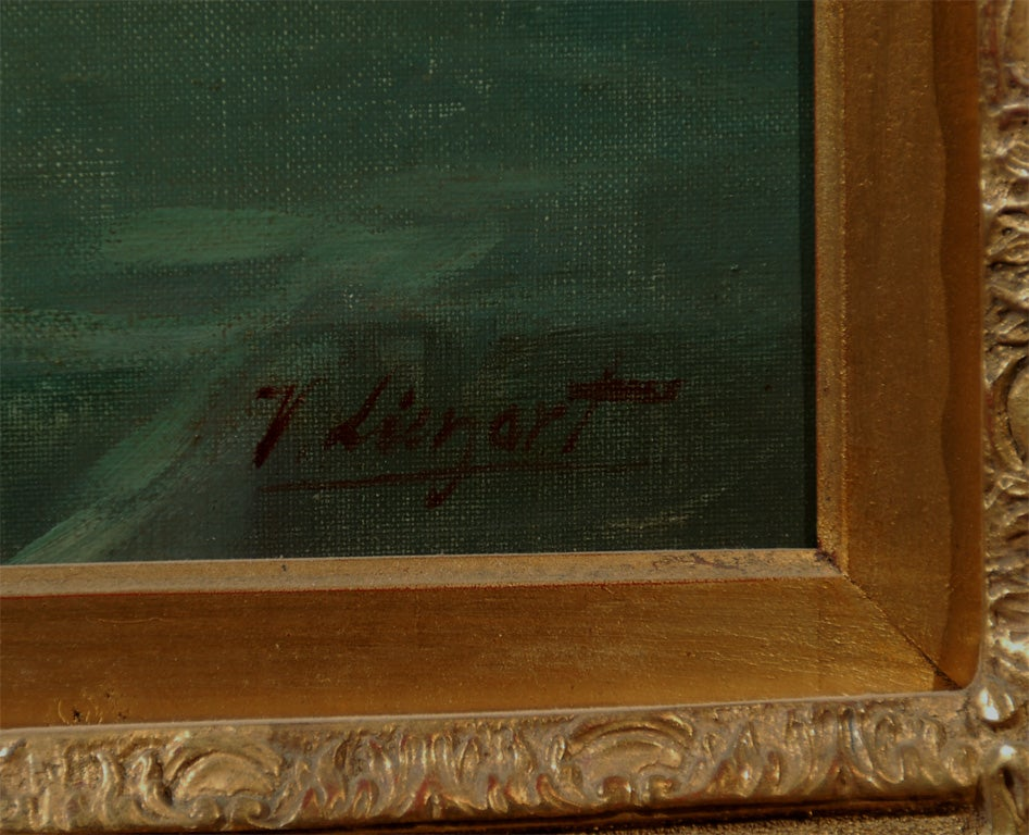 French 1870s Napoleon III Period Still-Life Painting with Giltwood Carved Frame For Sale 2