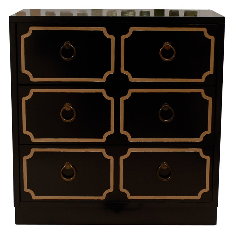 pair of dorothy draper style chests at 1stdibs. Black Bedroom Furniture Sets. Home Design Ideas