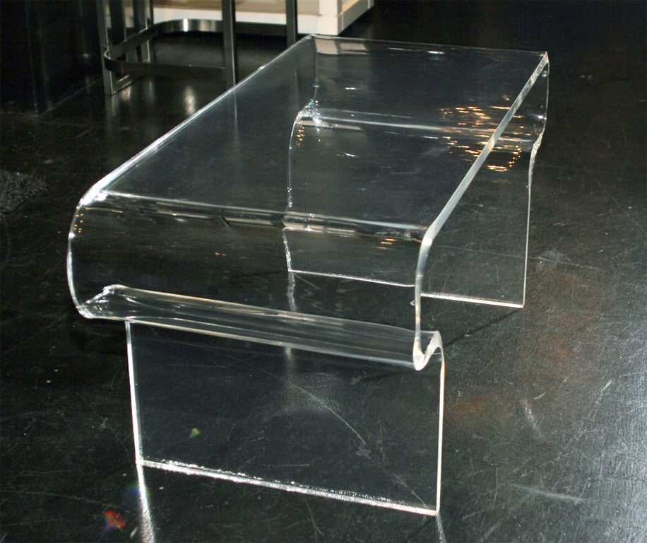 Lucite Waterfall Cocktail Table At 1stdibs