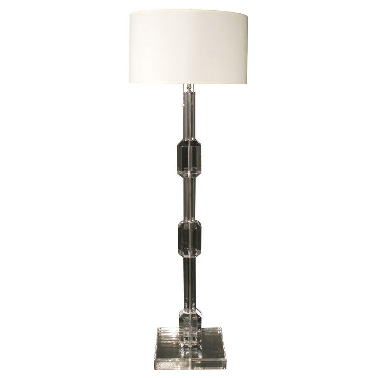Balanchine Lucite Floor Lamp At 1stdibs