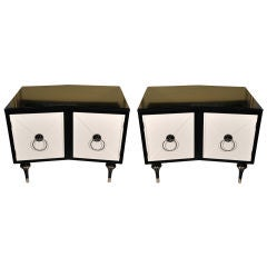 Pair of Offset  Bedside / End Tables
