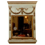 19th century French Trumeau Mirror with Swag Detail