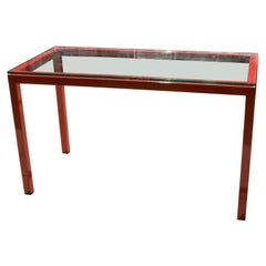 Vintage Lacquered Steel Console or Sofa Table