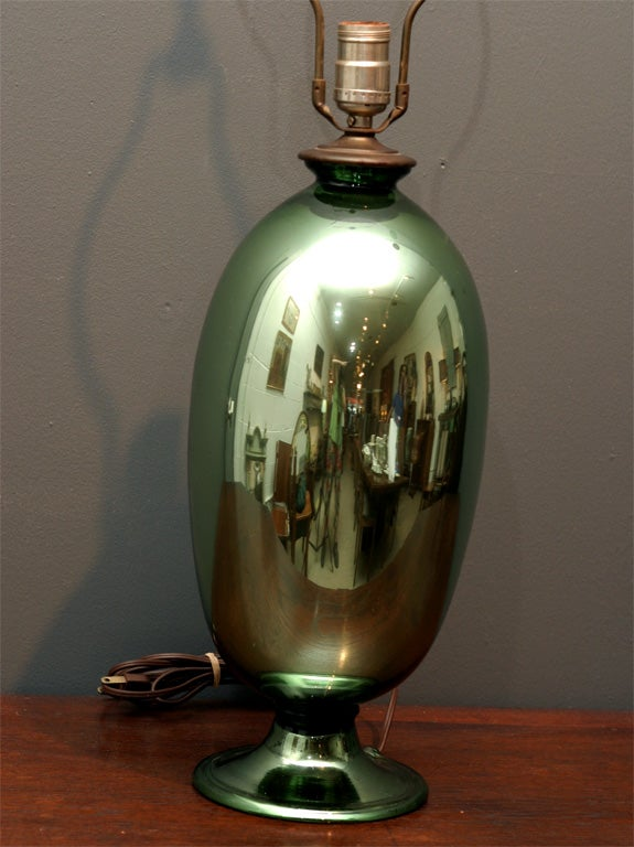 Green Mercury Glass Lamp At 1stdibs