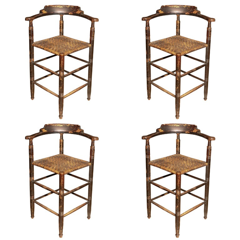 Set Tall Backed Stools At 1stdibs