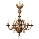 An 8 Light Dutch Baroque Style Chandelier
