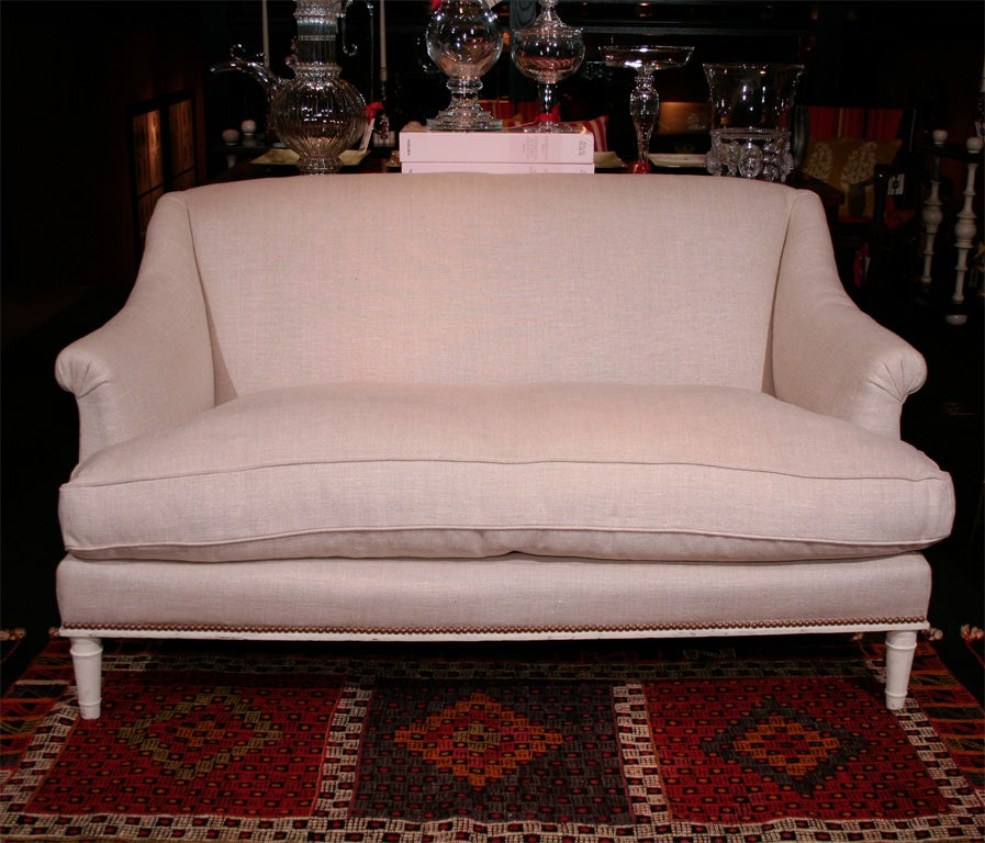 French White Painted Canape in the Style of Maison Carlhian For Sale ...
