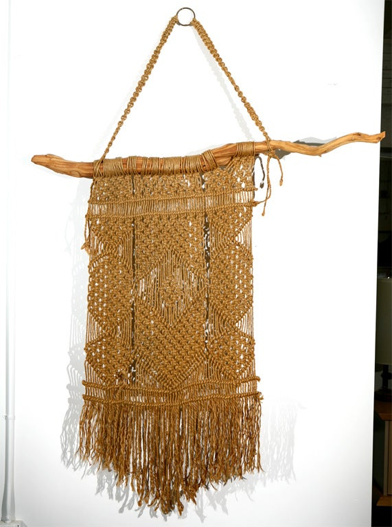 Macrame Wall Hanging on Driftwood image 2