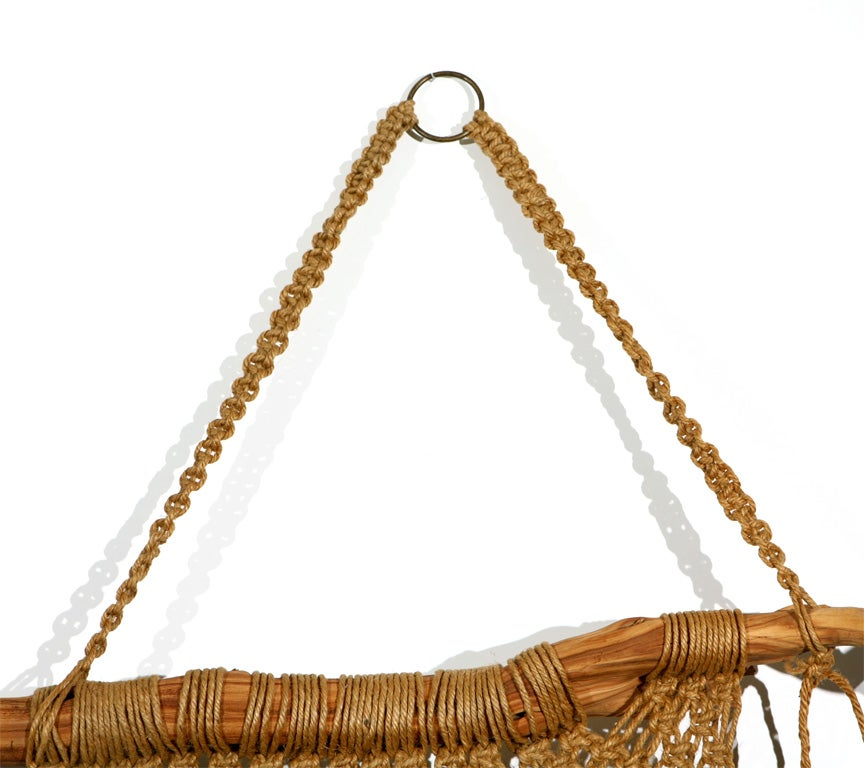 Macrame Wall Hanging on Driftwood image 3