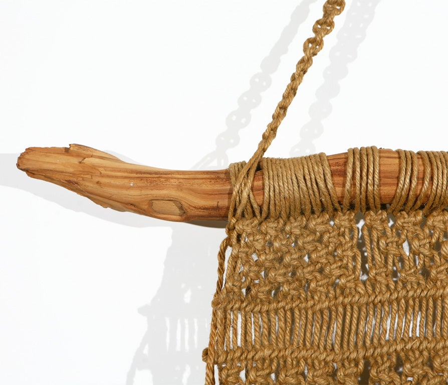 Macrame Wall Hanging on Driftwood image 4