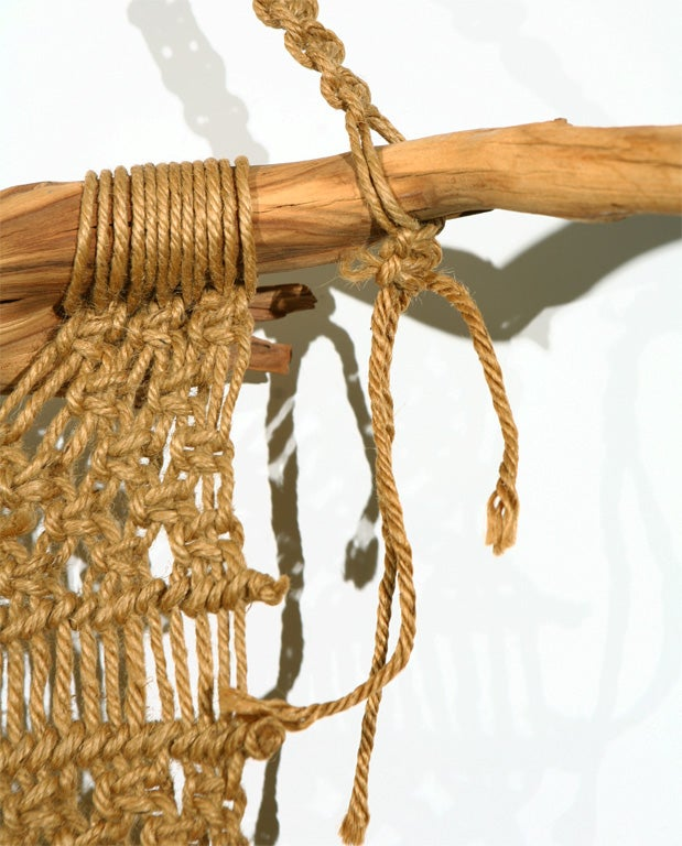 Macrame Wall Hanging on Driftwood image 8