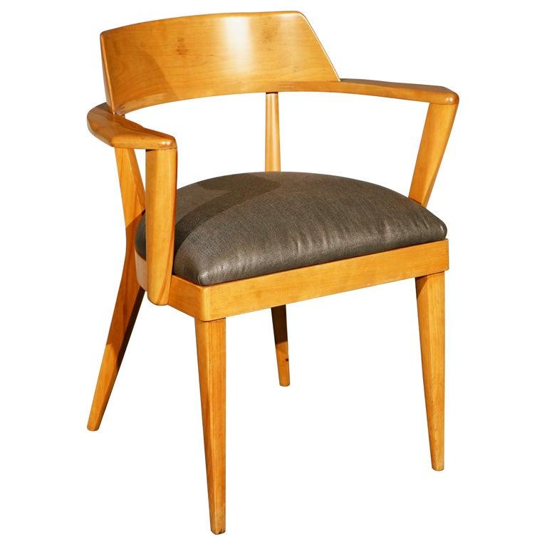 Vintage Heywood Wakefield Side Arm Chair At 1stdibs