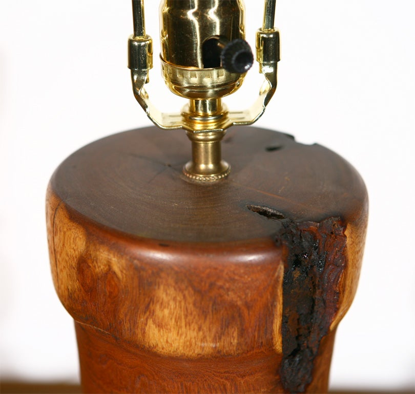Wood Table Lamp Picture More Detailed About High End On: Turned Burl Wood Table Lamp At 1stdibs