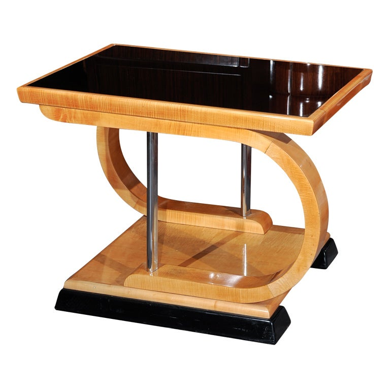 Unusual Art Deco Asymmetrical Coffee Table At 1stdibs