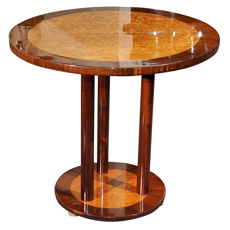 classic art deco two tone side table at 1stdibs. Black Bedroom Furniture Sets. Home Design Ideas