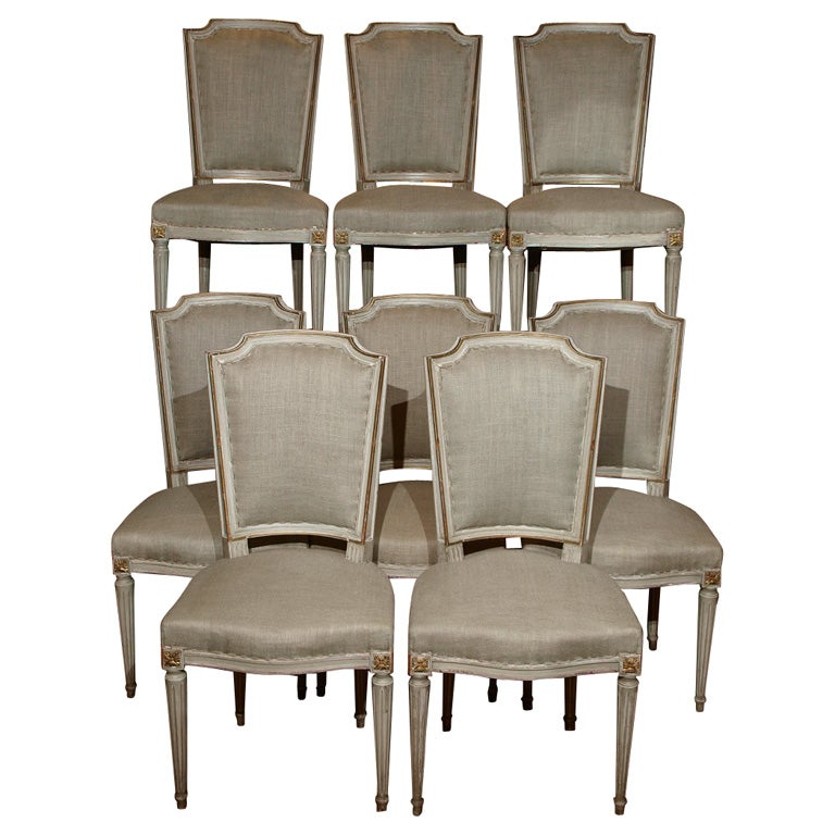 Eight Louis XVI Style Dining Chairs At 1stdibs