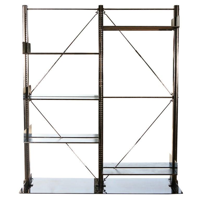 Metal architectural carnegie book shelf at 1stdibs for Sideboard lindholm