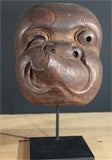 Three Japanese Carved Wood Theatrical Masks thumbnail 3