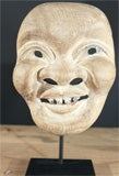 Three Japanese Carved Wood Theatrical Masks thumbnail 5